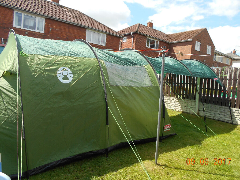 colemans hawkins 4 person tent and front porch extension & colemans hawkins 4 person tent and front porch extension | in ...