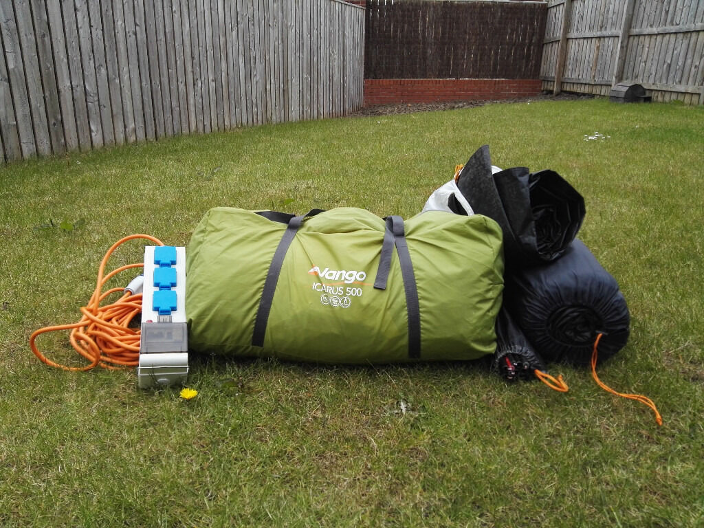 Vango Icarus 500 with footprint carpet and electric hookup : electric hookup for tents - memphite.com