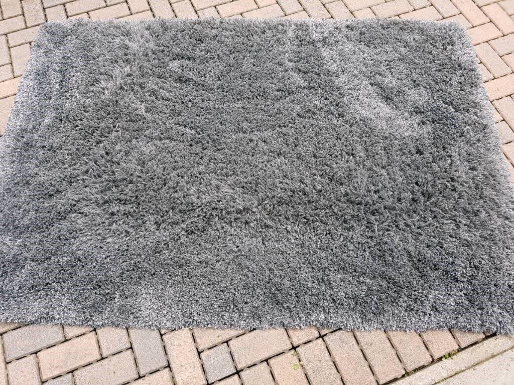 ikea gaser dark grey high pile rug