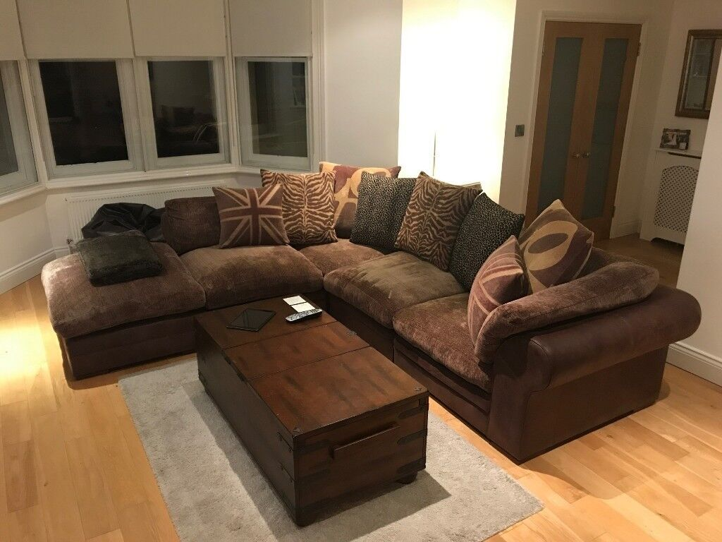 Large DFS Columbus L Shaped Sofa