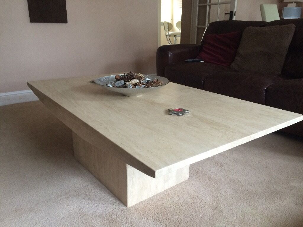 Matching Coffee Table And Side Table   Solid Marble Effect   Ex Barker U0026  Stonehouse