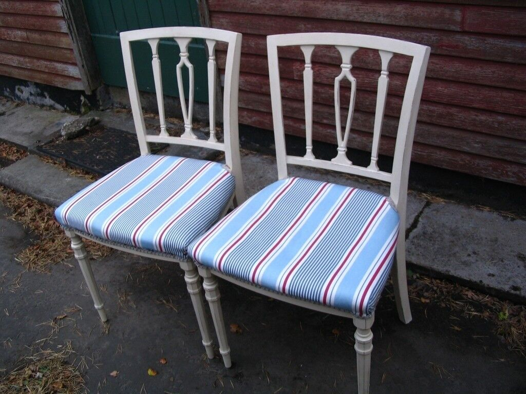 Vintage 2 Reupholstering Painted Dining Room Chairs