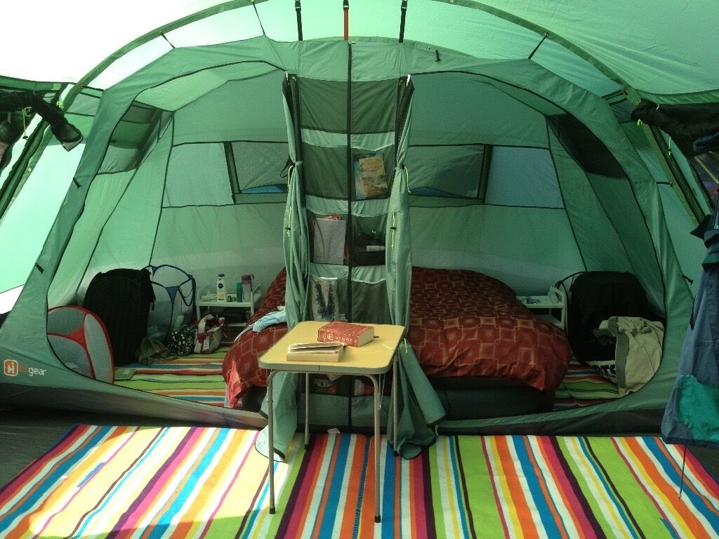 Corado 6 hi-gear large family tent with groundsheet and carpet & Corado 6 hi-gear large family tent with groundsheet and carpet ...