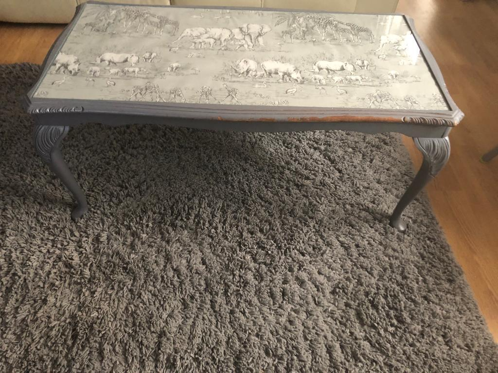 Painted Coffee Table With Glass Top ***reduced To Sell | In Poole ...