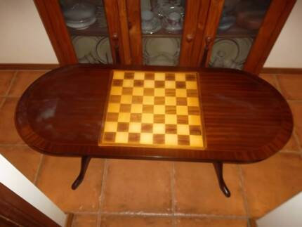 Antique Chess Board Coffee Table