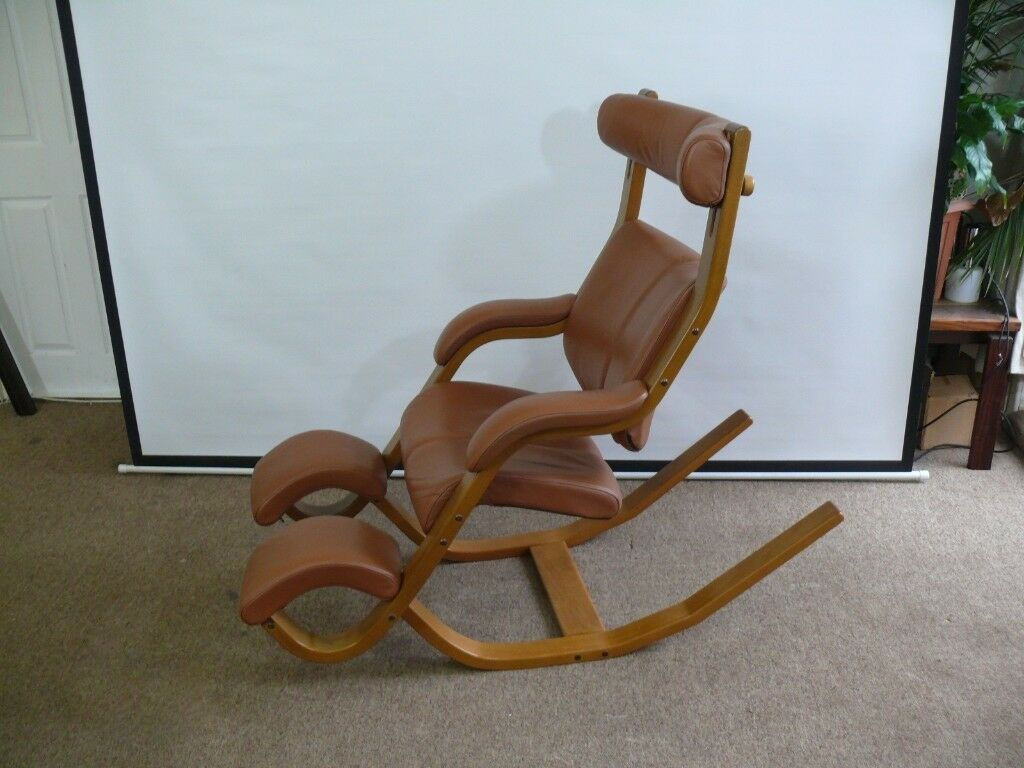 Stokke Varier Gravity Balans Chair Balance Reclining Armchair Top Of