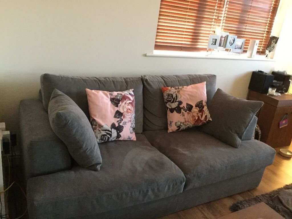 NEXT Soft Marl French Grey 3 Seat Sofa