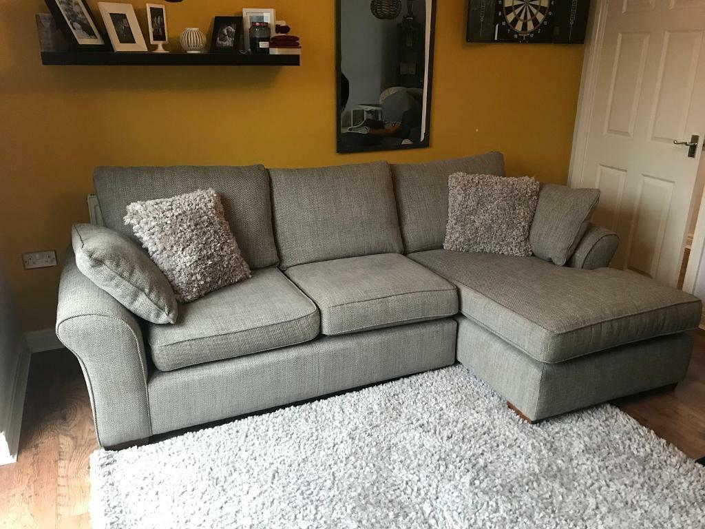 Superb Next Right Hand Garda Corner Sofa In Mid French Grey Rrp £1375