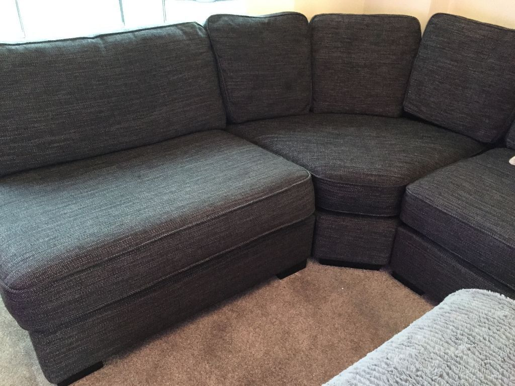 Delicieux Furniture Village Eleanor Curved Corner Sofa Settee Black/Charcoal  Excellent Condition