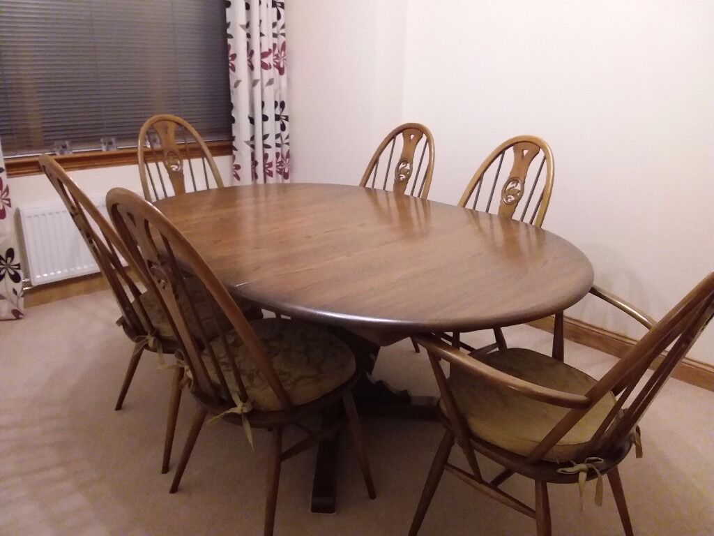 Charmant Ercol Dining Table And 6 Chairs