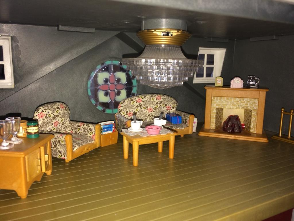 Sylvanian Families Living Room Set (uncommon Colour)