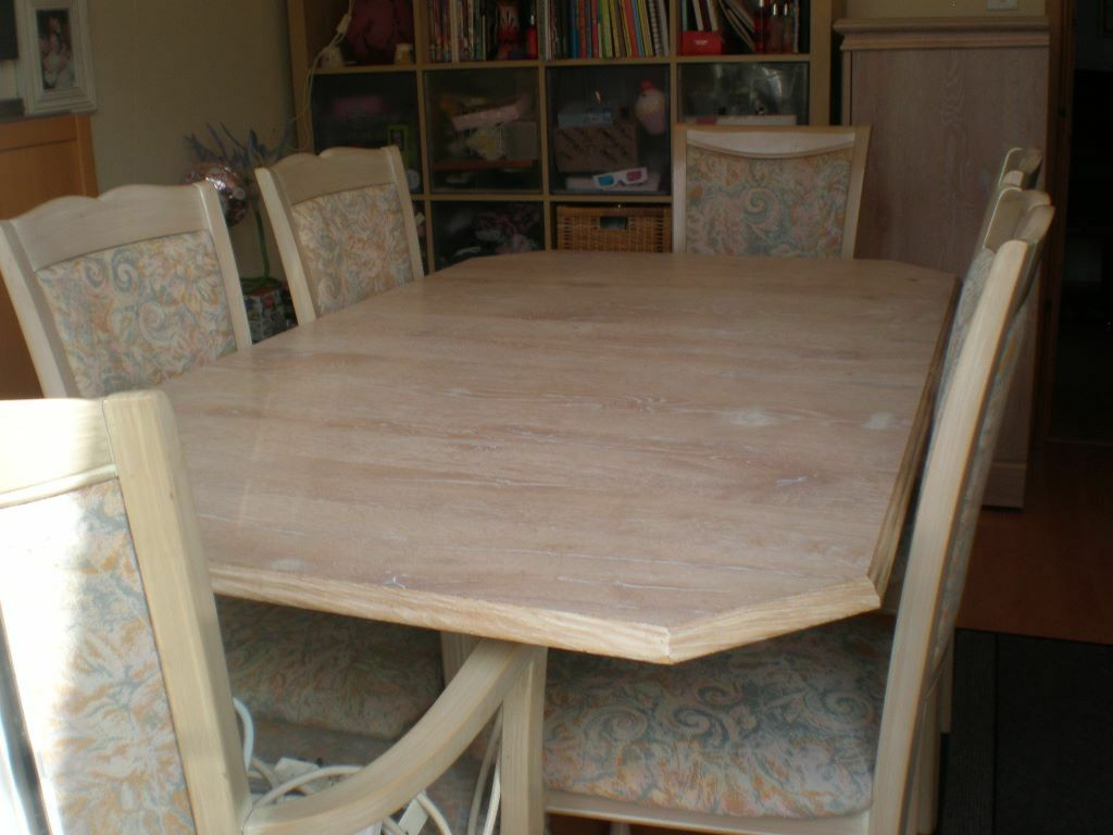Superb STUNNING CAXTON LIMED OAK TABLE AND CHAIRS Part 9