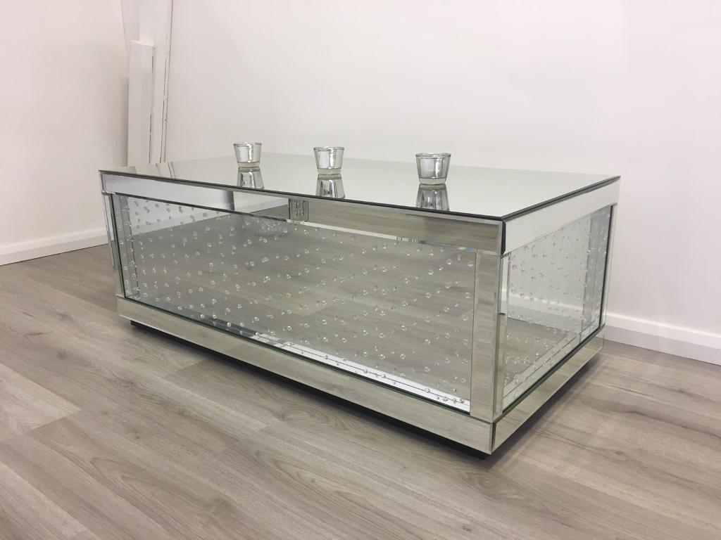 Exceptional Brand New Floating Crystal Coffee Table