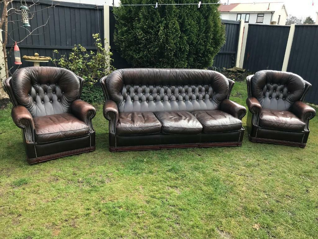 Chesterfield Vintage Sofa Suite Can Deliver