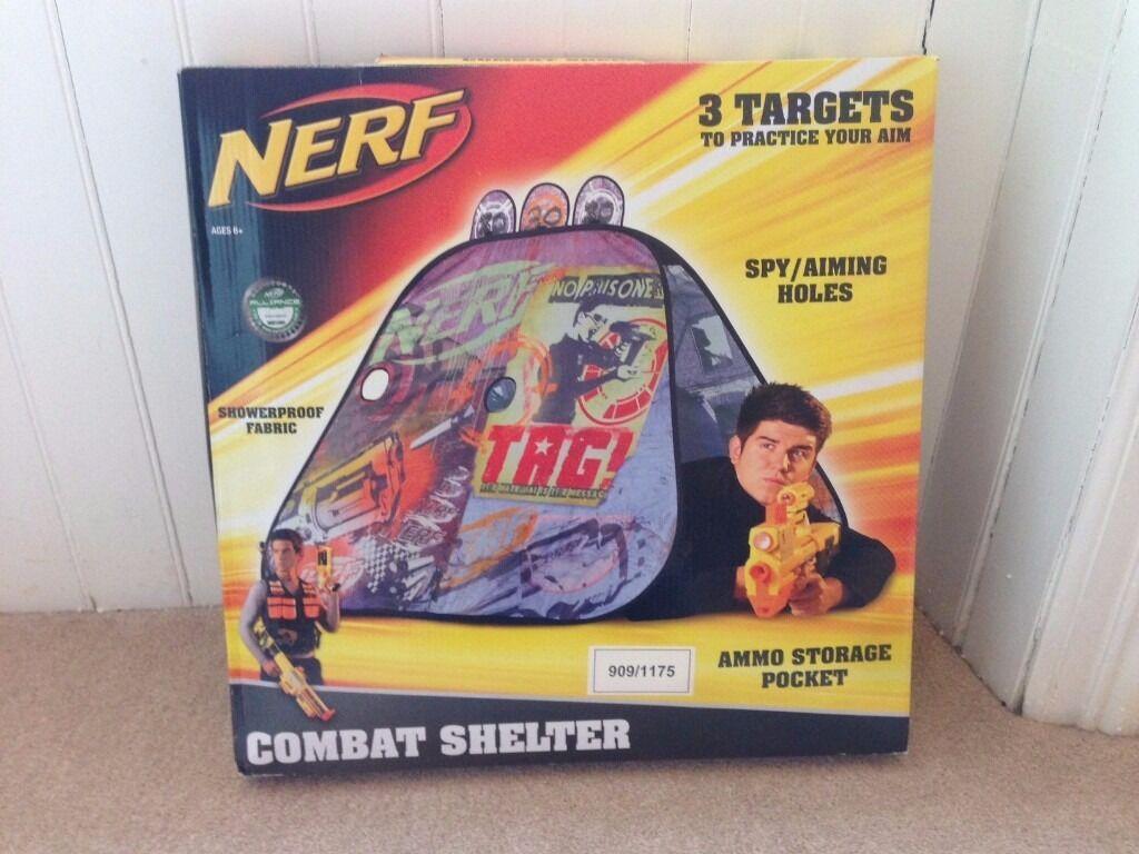 NERF guns showerproof Combat Shelter Play Tent in box  sc 1 st  Gumtree & NERF guns showerproof Combat Shelter Play Tent in box | in ...