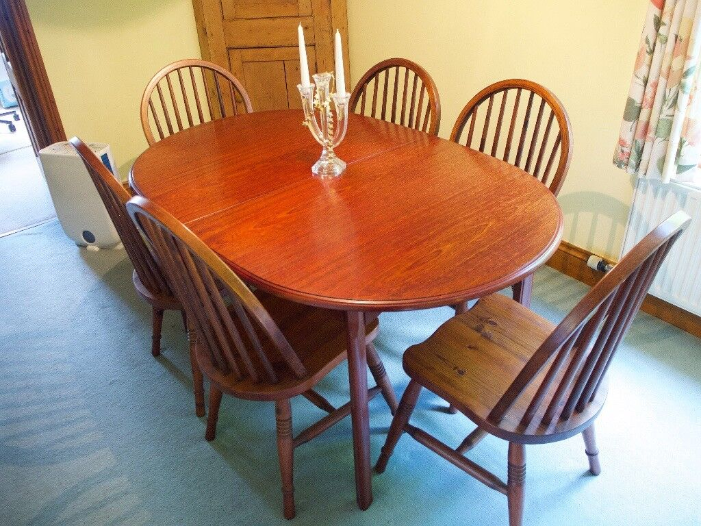Oval Extending Dining Table U0026 6 Chairs