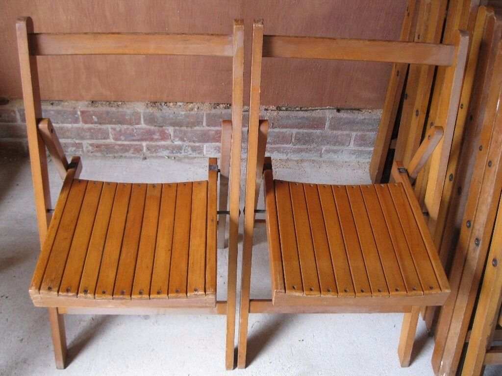 Genial VINTAGE FOLDING WOODEN CHAIRS FROM CHURCH. £25 Each. Delivery Poss. ALSO  PEWS