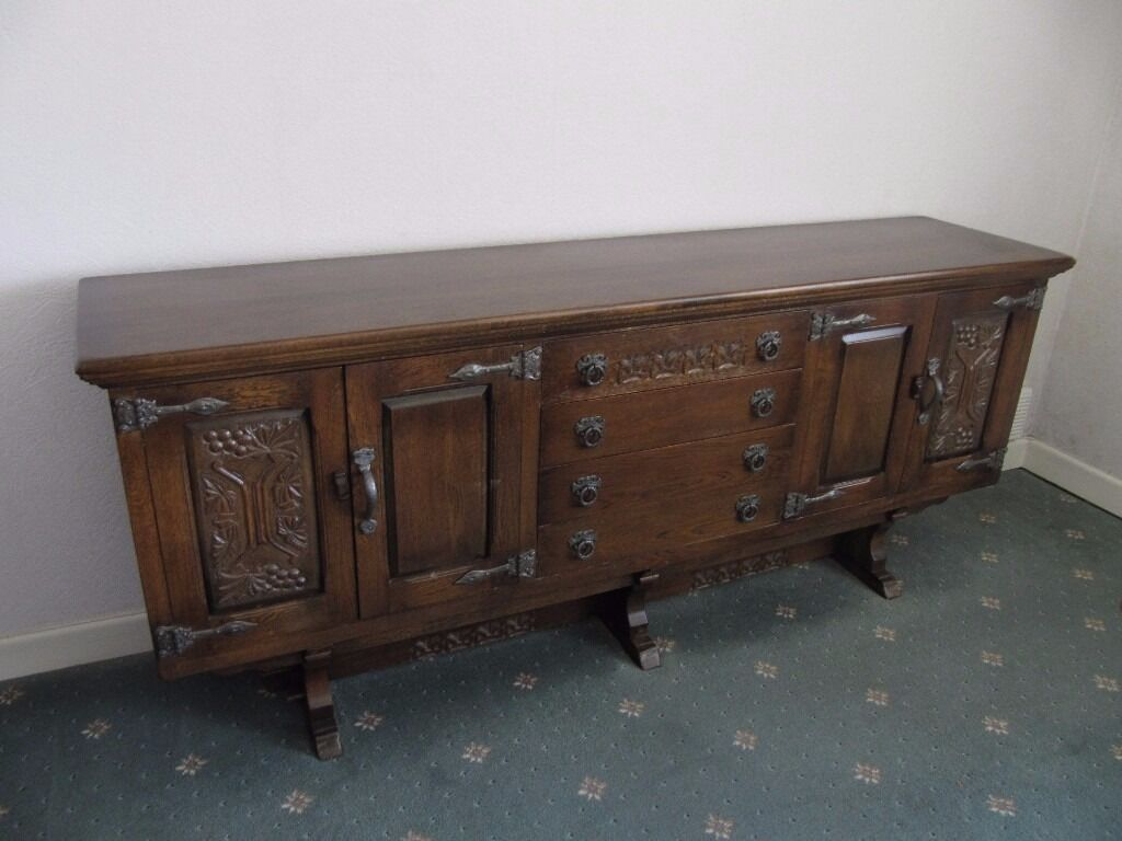 Solid Oak Sideboard Made By Webber Furniture With The Original Receipt And  Catalogue