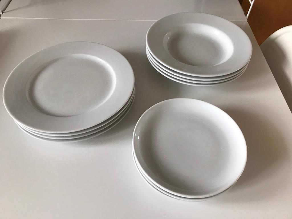 IKEA 365 4x dinner plates 4x side plates 4x deep bowels & IKEA 365: 4x dinner plates 4x side plates 4x deep bowels | in ...