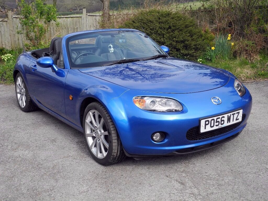 2006 Mazda MX5 2.0 Sport Cabriolet In Winning Blue Metallic With 56,700  Miles, In Great