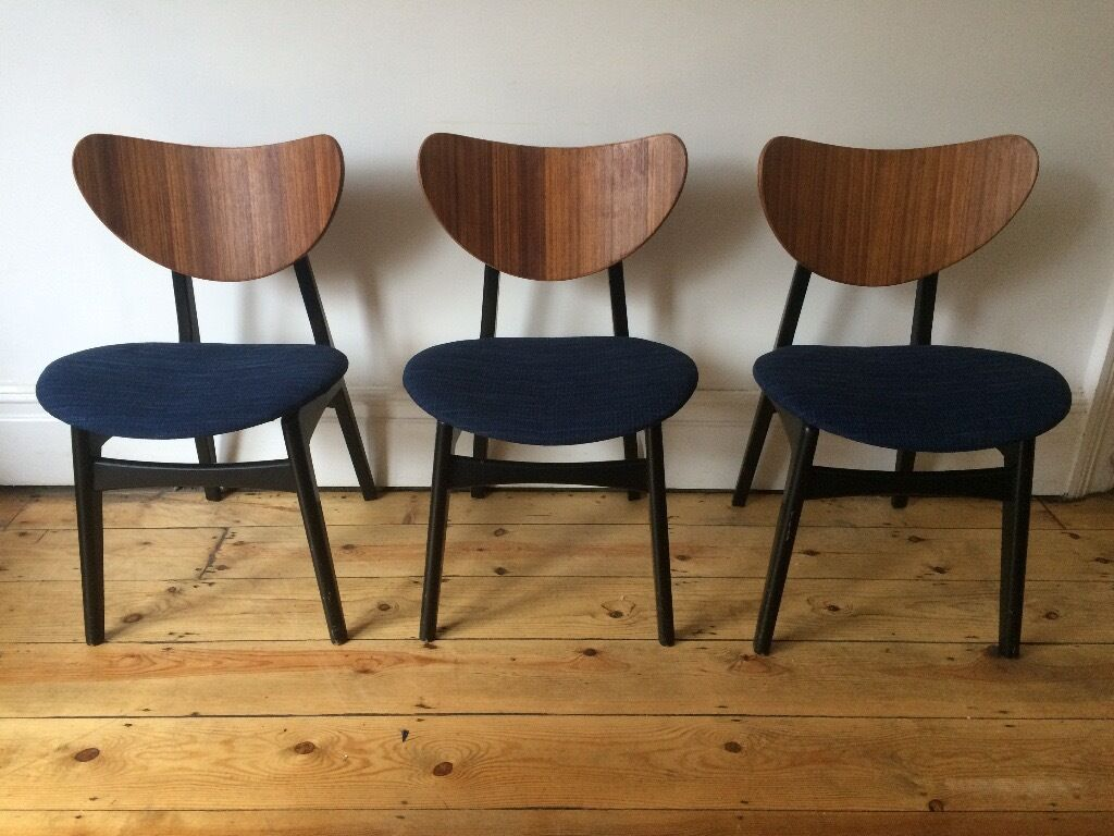 Mid Century Vintage G Plan E Gomme Butterfly Kitchen Dining Chairs  Reupholstered