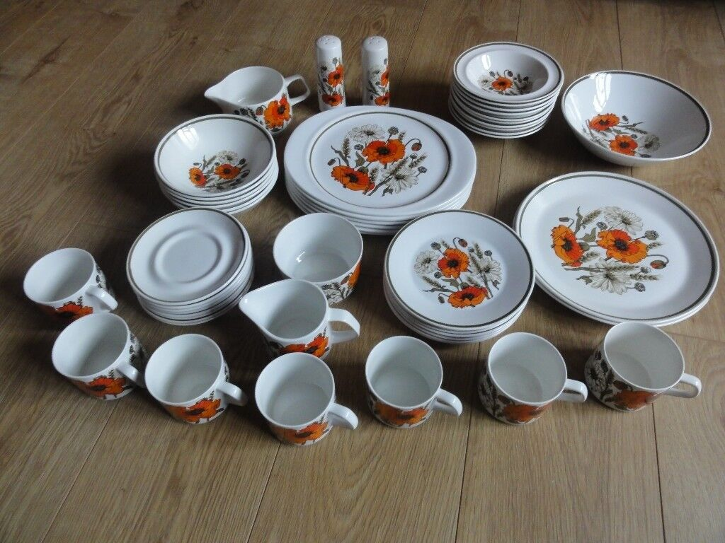 Ju0026D Meakin Poppy tableware & Ju0026D Meakin Poppy tableware | in Norwich Norfolk | Gumtree