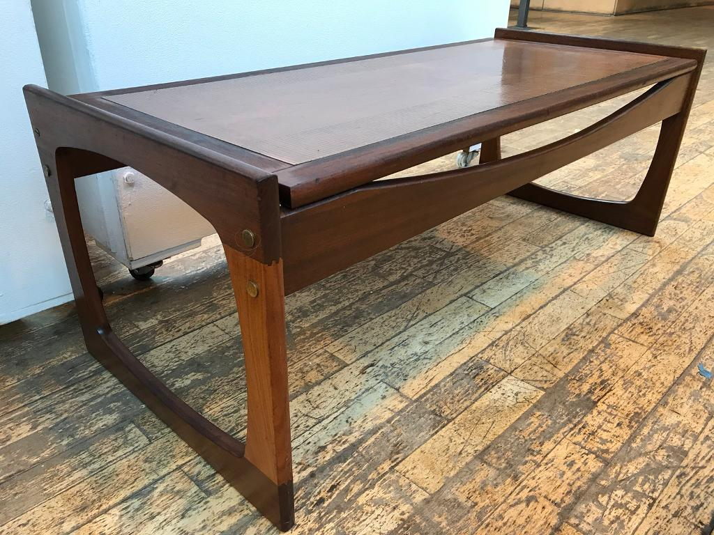 Copper Top Egyptian Relief Teak Coffee Table (G Plan)