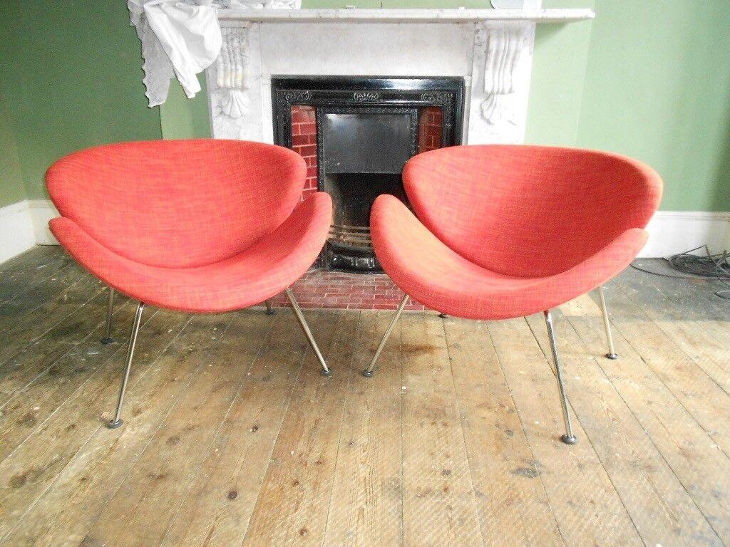 Pierre Paulin Orange Slice Chair For Artifort Design