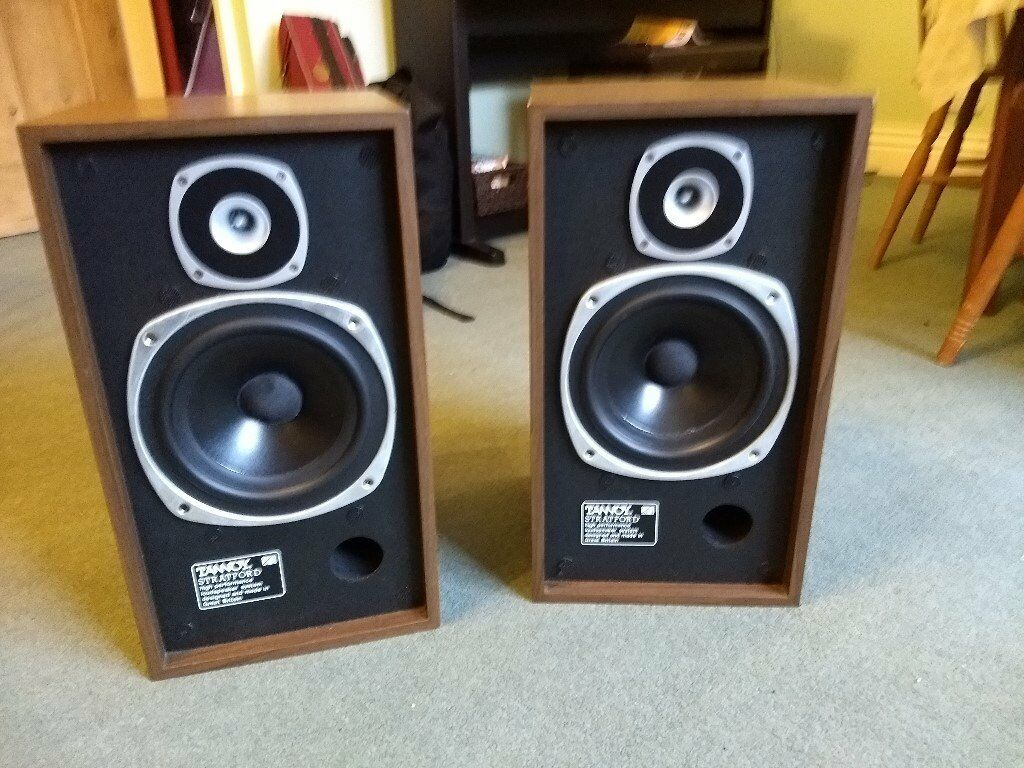 Tannoy Stratford Speakers In Wood Cabinet