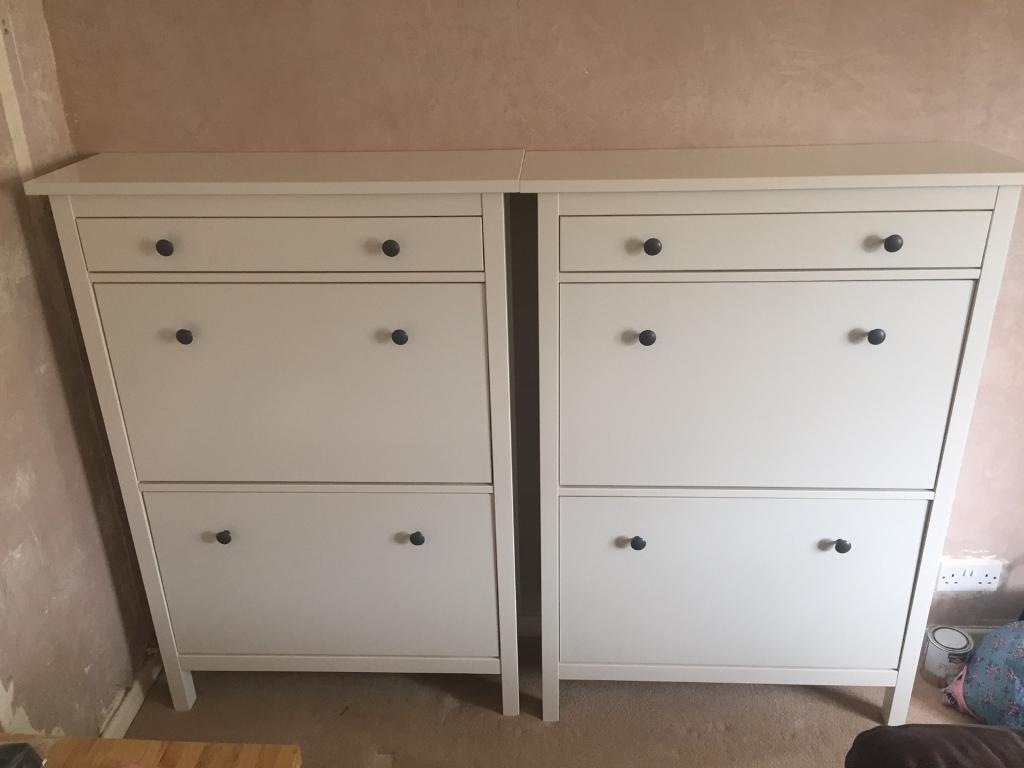 IKEA Hemnes Shoe Cabinet (White) x2 & IKEA Hemnes Shoe Cabinet (White) x2 | in Nailsea Bristol | Gumtree