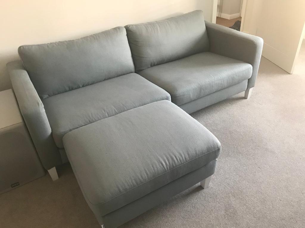 IKEA Karlstad 3 Seater Sofa COVER In Zinc Grey