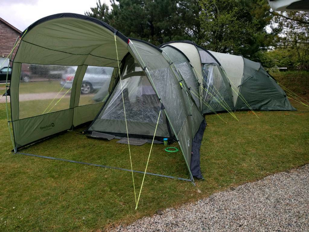 Outwell Hartford XL Tent with Footprint + Extension Canopy & Outwell Hartford XL Tent with Footprint + Extension Canopy | in ...