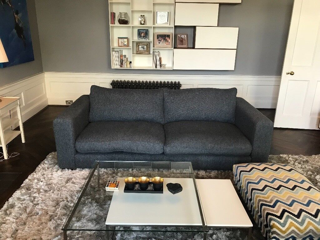Superieur Sofas And Stuff, 2 Large Stourhead Sofau0027s In Navy Harris Tweed Fabric