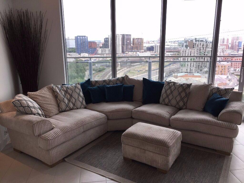 Panache Corner Sofa And Footstool