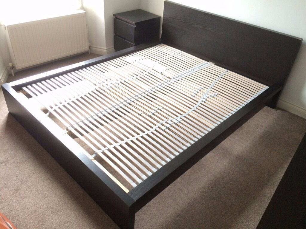 double bed frame ikea malm and slatted bed base