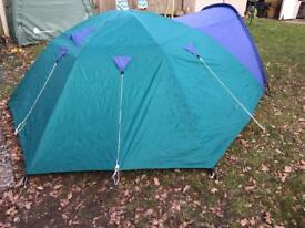 Storm shield 3 man Dome tent by Blacks & Pro action 4 man dome tent | in Marchwood Hampshire | Gumtree