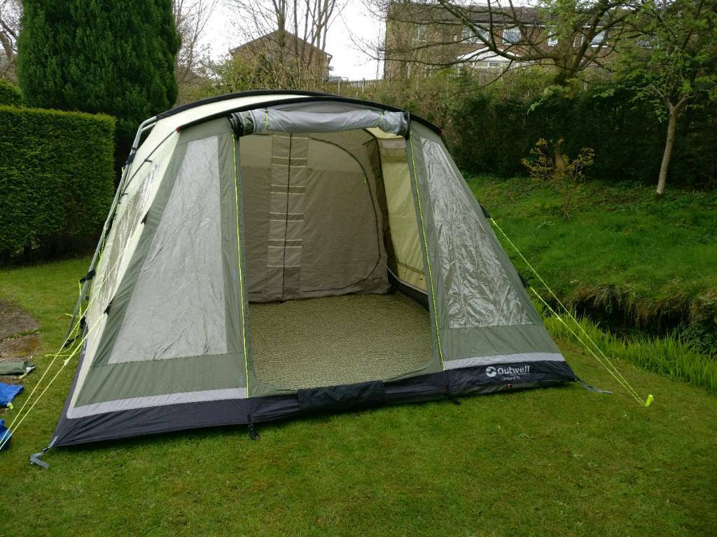 Outwell oakland xl. Footprint and carpet. Family tent. & Outwell oakland xl. Footprint and carpet. Family tent. | in ...