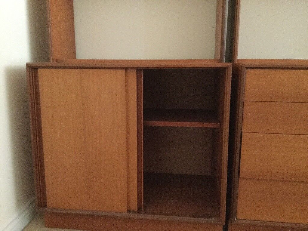Two teak storage units with drawers shelves and cupboards | in Ashtead Surrey | Gumtree & Two teak storage units with drawers shelves and cupboards | in ...