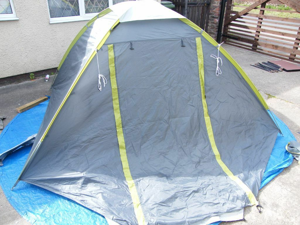 Tesco 3 man dome tent used once - double skinned tent in VGC & Tesco 3 man dome tent used once - double skinned tent in VGC | in ...