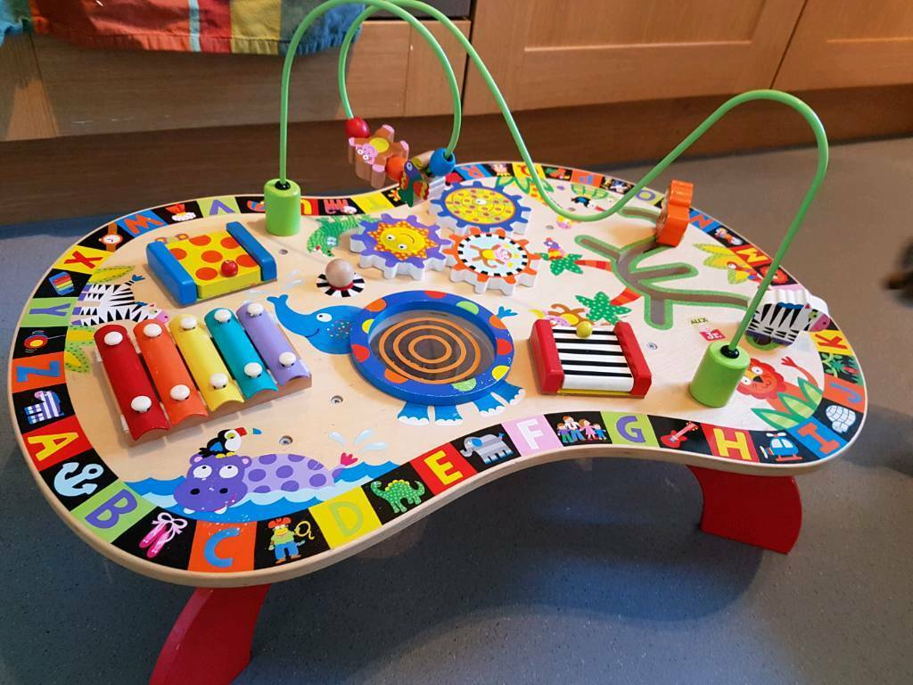 Beau Alex Jr Wooden Activity Table