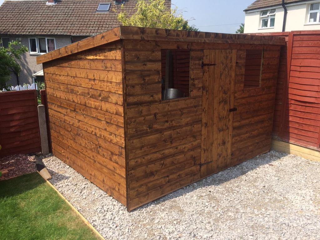 NEW HIGH QUALITY Tu0026G 7x5 PENT ROOF GARDEN SHEDS £369.00 ANY SIZE (FREE  DELIVERY