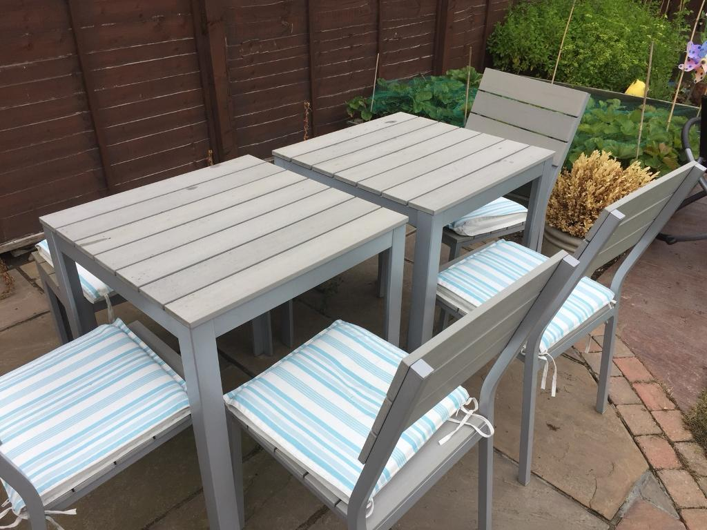 Beau IKEA FALSTER GARDEN TABLE/ CHAIRS/ BENCH AND PARASOL SET
