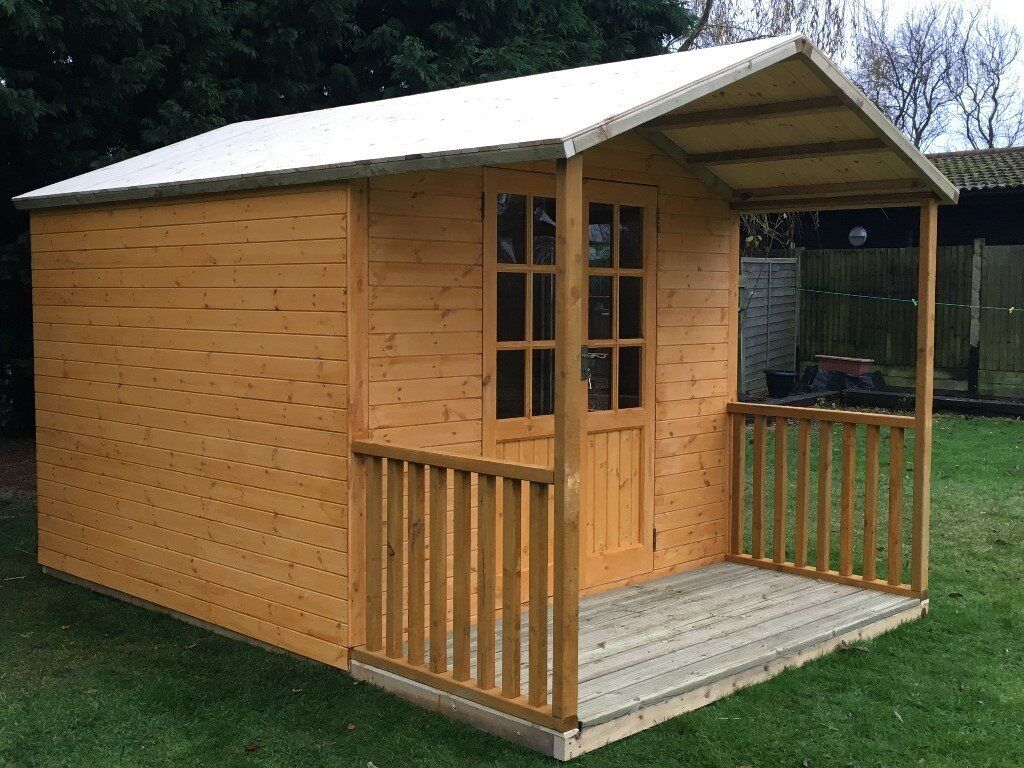 Charmant SUMMER HOUSE 12ft X 8ft, OFFICE BAR GARDEN SHED WITH VERANDA AND CANOPY,  QUALITY TIMBER | In Colchester, Essex | Gumtree