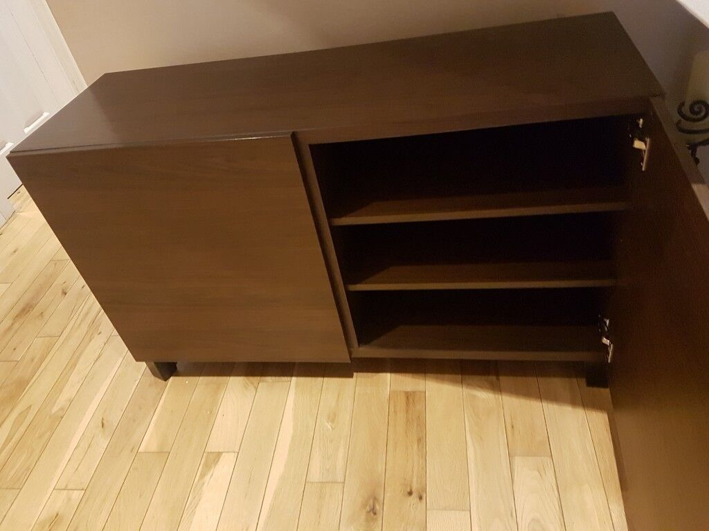 As new Ikea BESTÅ Storage unit - doors Black-brown & As new: Ikea BESTÅ Storage unit - doors Black-brown | in Bangor ...