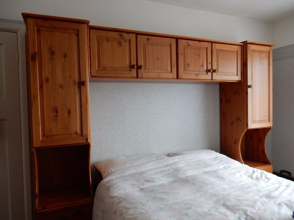 Overbed Surround In Solid Pine For King Sized Bed For Great Storage Space