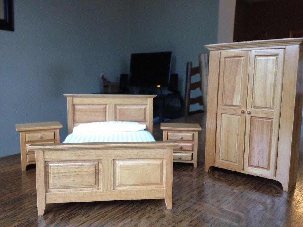 12th Scale Dolls House Bedroom Furniture Set