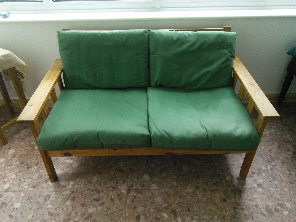 Ikea Wooden Sofa