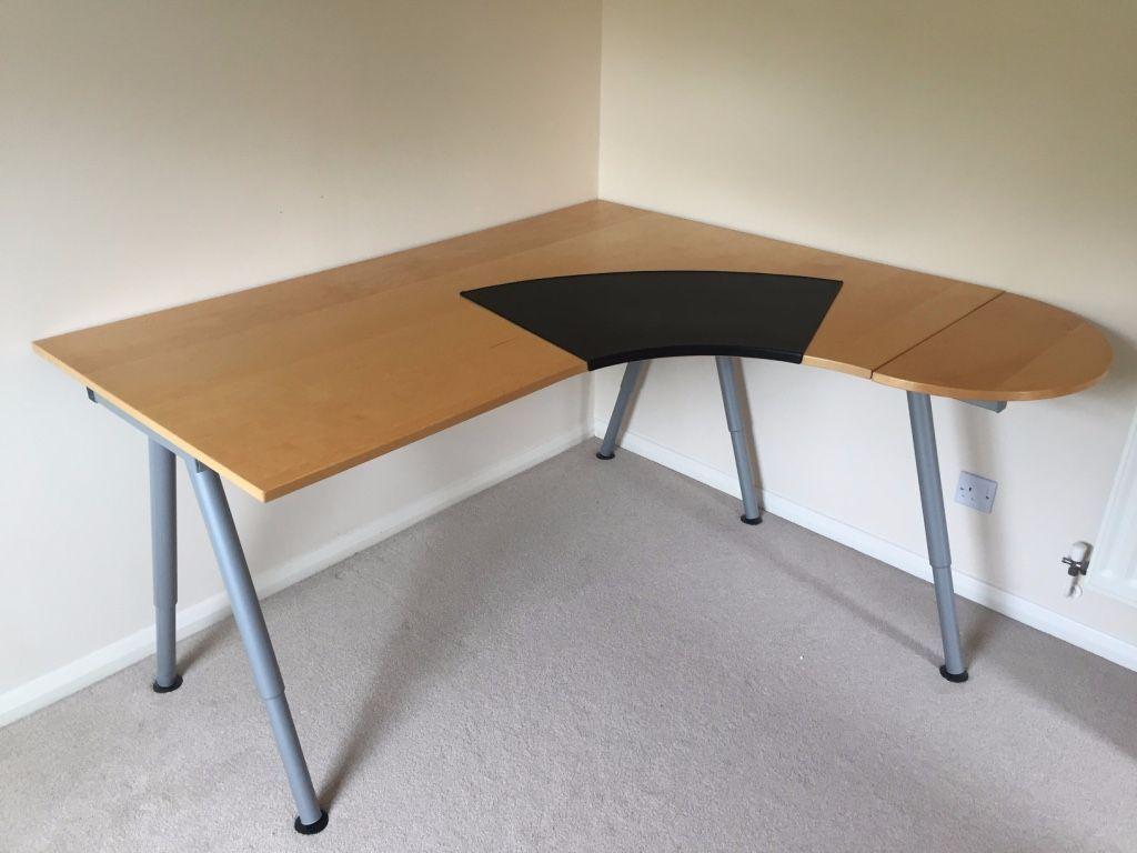 Beautiful IKEA Galant Corner Desk: Removable Extension. Beech Veneer. Height  Adjustable. £55 Amazing Pictures