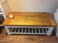Oak Furniture Land Rustic Painted Coffee Table.