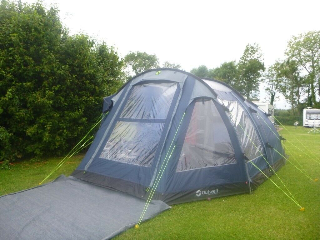 Outwell Nevada M 5 person tent with awnings footprints etc + airbeds sleeping bags cupboards etc & Outwell Nevada M 5 person tent with awnings footprints etc + airbeds ...